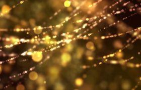 舞台素材-华丽金色飘散粒子动感炫酷舞台背景led视频素材