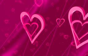 婚礼素材-浪漫爱心转动循环唯美婚礼背景高清视频素材