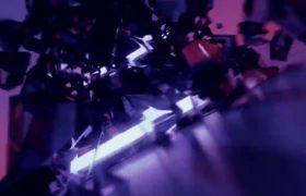 舞台素材-超级酷炫爆炸建筑光束劲爆晚会舞台背景视频