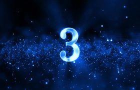 倒計時素材-藍色星空震撼科技5秒粒子倒計時視頻素材