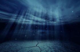 晚会素材-震撼唯美海底世界光芒上升晚会视频背景素材