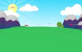 欢乐卡通素材-动感游戏视觉音乐穿越第一人称欢乐背景视频