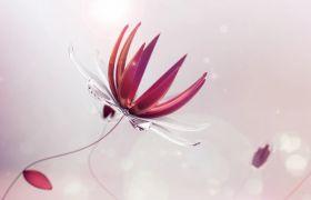 游戲動畫-游戲創意水晶花朵綻開動畫視頻背景素材