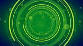 綠色圓圈波紋轉動高清背景視頻素材