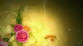 经典花纹生长粒子光效婚庆庆典高清背景视频素材