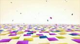 彩色纸片飘落高清背景视频素材