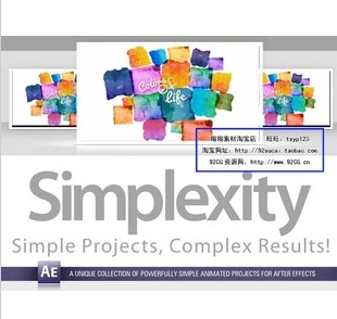 DJ最新高效简洁风格AE模板Digital Juice Simplexity Collection1