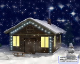 圣诞节日素材 雪地圣诞屋标清动态背景视频素材39