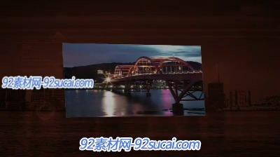 《大型户外LED屏》会声会影模板公司企业广告宣传片头素材