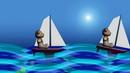 船儿荡漾 高清动态视频素材