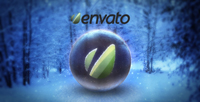 水晶球圣诞新年Logo标志演绎动画AE模板 Crystal Ball Logo Revea