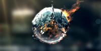 《水与火相容特效Logo展示AE模板》Fire & Water Logo