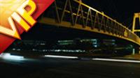 立交桥下汽车快速行驶高清实拍视频素材