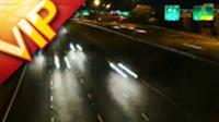 一组夜景公路汽车快速行驶高清实拍视频素材