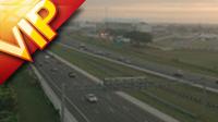 俯拍公路汽车行驶 高清实拍视频素材