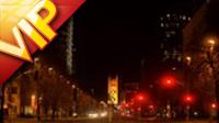 城市街道夜景車流燈光高清實拍視頻素材