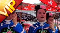 中国少数民族苗族风情 服饰银饰贵州苗年牯藏双节盛大节日实拍