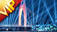 香港广州城市景观和人文风情实拍 广州猎德大桥广州塔小蛮腰
