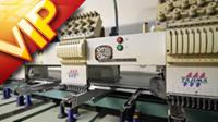 实拍大型丝网印刷和绣花设施 服装厂印刷印花绣花等各种机器设备