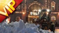 莫斯科红场城堡 冬天飘雪的浪漫风景 建筑风光摄影