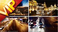 中國上海夜晚景觀 城市夜景 建筑高樓 上海車流高清實拍影視素材