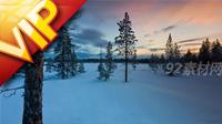 延時攝影 冬天雪地現極光自然風光美景 高清實拍素材