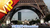 人流 埃菲尔铁塔下的车流 欧美城市景点建筑高清实拍视频素材
