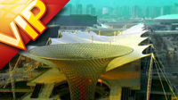 上海世博会场馆外观高清实拍视频素材