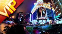 繁華的上海城市大樓人流街道風景高清實拍視頻素材