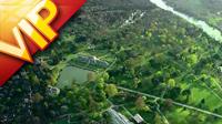 航拍绿色城市高清实拍视频素材
