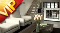 现代化家居家具装饰一组展示 厨房水龙头浴室花洒客厅沙发餐桌窗