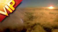 云层之上拍摄 云烟翻滚自然风美景高清实拍视频素材