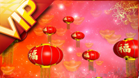 新年節日素材 新年燈籠蛇年元宵節LED背景素材高清視頻素材