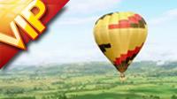 航拍热气球高清实拍视频素材