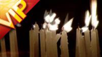 白色蠟燭燃燒 高清實拍視頻素材