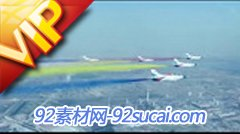 国庆大阅兵方队 飞机演习 高清实拍视频素材