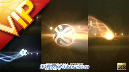 超酷粒子光效足球射门Logo标志展示AE模板 Soccer Ball Opener