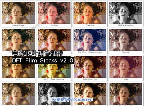 电影胶片调色插件 DFT Film Stocks v2.0