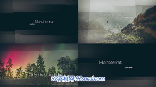 优雅简洁的线条切割屏幕幻灯片栏目包装AE模板 Modern Slideshow