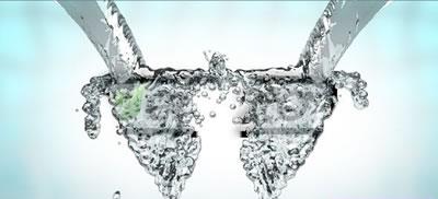 AE模板 三维动态水珠飞溅合成LOGO标志低落 AE素材
