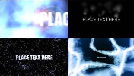 简单文字标题特效Logo演绎 AE工程模板合集二 共25个免费下载
