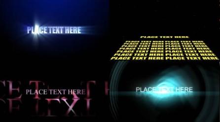 简单文字标题特效Logo演绎 AE片头模板合集三 共25个免费下载