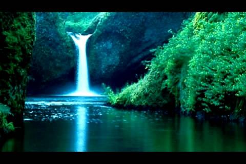 3段高清湖边山色高山流水山水高清视频素材