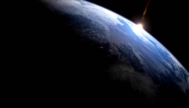 5段太空航拍地球 俯拍地球旋转自转 标清实拍视频素材