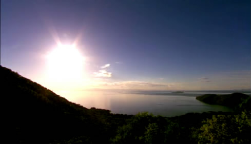 日出日落霞光海岸日出日落湖光山色日樓傍晚橋視頻素材