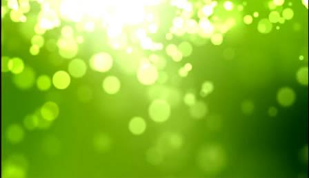 清爽绿色粒子光效高清配景静态视频素材