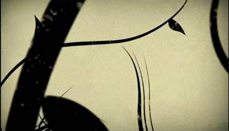 玄色花藤花生长 高清视频素材