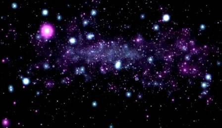 粒子爆散 暗黑发光粒子飞翔散开高清静态视频素材
