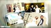 婚礼时辰炫光边框结果照片睁开电子相册AE模板
