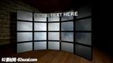 电视墙模板免费下载 Curved.Video.Walls.01b
